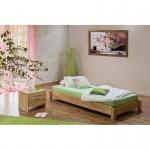 Massivholz Jugendbett Stapelbett 1 Stück - Buche natur geölt -Schnelllieferprogramm-