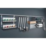 Naber Relingsystem Relista Linero 2000 Set-1 edelstahlfarbig 60 cm lang
