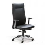 Mayer Chefsessel Design 2487 Echt Leder schwarz