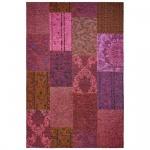 Teppich Wohnteppich My Mersey 1150, Patchwork-Optik, fuchsia
