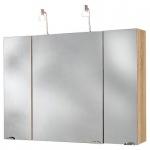 Badmöbel Badezimmer Gästebad Spiegelschrank, mulit use, mit 2 Halogenstrahler