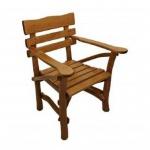 Holzstuhl Knüppelholzsessel Sessel Stuhl massiv Eiche dunkel