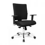 Design Bürodrehstuhl Lightstar 10X verchromtes Fußkreuz Sitztiefenverstellung