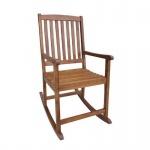 Schaukelstuhl Stuhl aus Akazienholz geölt