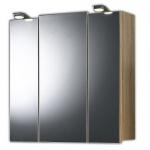 Badmöbel Badezimmer Gästebad Spiegelschrank 3-türig, mit LED-Lampen
