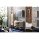 Badmöbel Badezimmer Rima 5-teilig, komplett, sonoma-eiche, MDF-Fronten