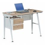 Schreibtisch Computertisch Easy eiche hell 110 x 76 x 50 cm