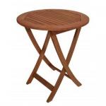 Klapptisch Holztisch rund 65 cm aus Eukalyptusholz