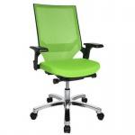 Bürodrehstuhl Drehstuhl Autosyncron 1 Kunststoffteile schwarz Fußkreuz Alu poliert