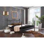 Metallbett Einzelbett Doppelbett Ancona struktur schwarz - Schnelllieferprogramm-