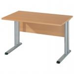 Schreibtisch BÜRO COMBI+ 4, 1.200 mm C-Fußgestell Alu
