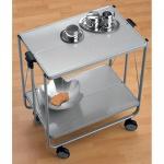 Bürowagen Rollwagen Servierwagen Butler grau/metallic