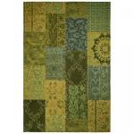 Teppich Wohnteppich My Mersey 1150, Patchwork-Optik, grün