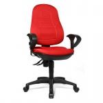 Bürodrehstuhl Welding Point Softpolster-Rückenlehne