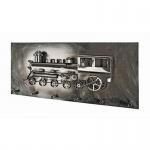 Wandgarderobe Eisenbahn Stahl Vintage Look und 3D Optik