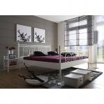 Metallbett Einzelbett Doppelbett Rhodos strukturweiß - Schnelllieferprogramm-