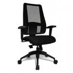 Bürodrehstuhl Drehstuhl Lady Sitness Deluxe schwarz inkl. Armlehnen -Express 17 12-
