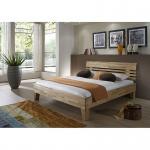 Modernes Einzelbett Doppelbett Avantgarde Wildeiche