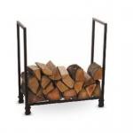 Brennholzregal Holzkorb Kamin R115 aus Metall in Schwarz