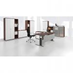 Schreibtisch Bürotisch C Fuß Pro 135° rechts, 216, 6 x 113 cm, Gera