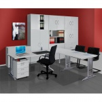 Büro Schreibtisch tec-art office 160x80 cm höhenverstellbar C-Fuß-Gestell