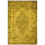 Teppich Wohnteppich My Mersey 1151, Vintage-Look, Ingwergelb