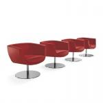 Design Lounge Sessel Mehrzwecksessel Koppa auf Fußsäule und Bodenteller