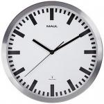 Wanduhr Funkuhr MAULpilot Durchmesser 300 mm silber