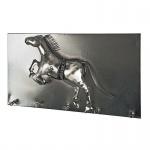 Wandgarderobe Pferd Stahl Vintage Look und 3D Optik