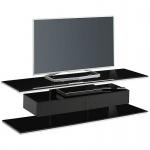 TV - Rack Lowboard 77289942 Schwarzglas - Weißglas Maße 1400 x 414 x 450 mm