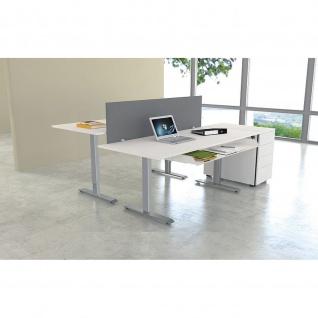 Kerkmann Schreibtisch Sitz-Stehtisch MOVE 1 silber 120x80x74-123cm elektr. höhenverstellbar