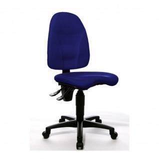 Bürostuhl Point 40 royalblau ergonomischer Orthositz