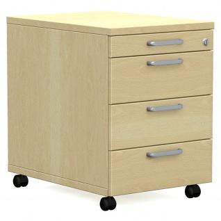 Rollcontainer Bürocontainer E10 Toro mit 3 Schub- und 1 Utensilienauszug H:600mm, B:430mm Kunststoff-oder Stahlschub