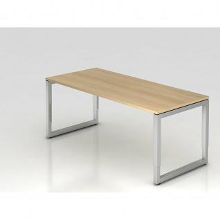 Büro Schreibtisch 180x80 cm Modell RS19 mechanische Höheneinstellung