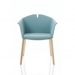Kastel Design Lounge Sessel KUAD Vierfußgestell in Ahorn