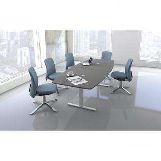Konferenztisch Move 3 250x100 cm weiß oder grafit