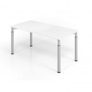 Hammerbacher Büro Schreibtisch 160x80 cm Modell Y mechanische Höheneinstellung