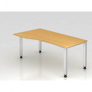 Büro Schreibtisch 180 x 100 cm Freiform Modell QS18
