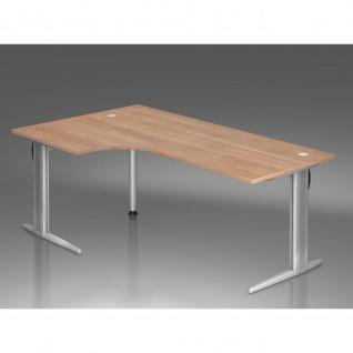 Büro Schreibtisch 200x120 cm Winkelform Modell XS82