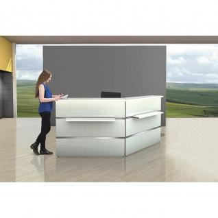 Kerkmann Design-Theke Theke Atlantis Glas 1-seitig schräg rechts (B)1350x(T)920x(H)1080mm