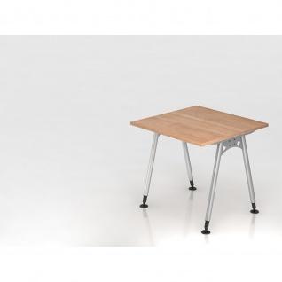 Büro Schreibtisch 80x80 cm Modell AS08 stufenlos höheneinstellbar