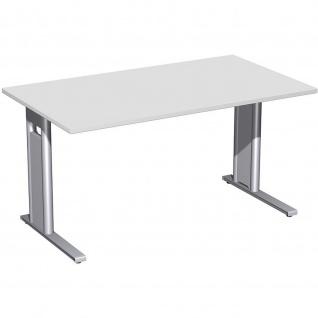 Gera Schreibtisch Bürotisch C Fuß Pro 1600x800x720mm verschied. Dekore