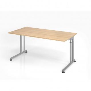 Büro Schreibtisch 160x80 cm Modell ZS16 mechanische Höheneinstellung