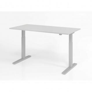 Büro Schreibtisch Stehtisch höhenverstellbar 160x80 cm Modell XMKA16 mit Tast-Schalter