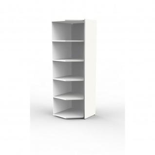 Eck-Anbauregal Büroregal Regal LUGANO, weiß, 60 x 60 x 183 cm