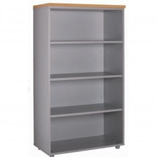 Büroschrank Ablageschrank 134 cm ohne Türen 3 Fachböden