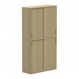 Aufsatzschrank Schiebetürenschrank Büroschrank E10 Toro B:120 cm T: 44, 5 cm Sichtrückwand in Korpusfarbe