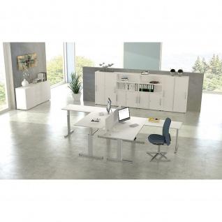 Kerkmann Schreibtisch Sitz-Stehtisch MOVE 3 silber 200x100x74-120cm elektr. höhenverstellbar