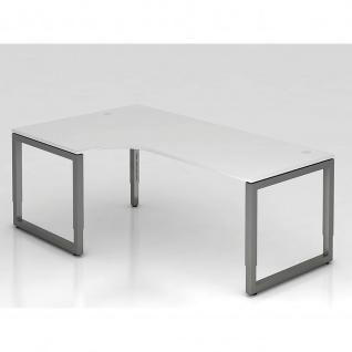 Hammerbacher Büro Schreibtisch 200x120 cm Modell R mechanische Höheneinstellung