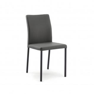 Edler Design Stuhl Esszimmerstuhl Borsa 1 KunstlederGestell schwarz